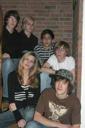 Michael, JustinE (oben), Miriam, Christoph, Timo, Georg